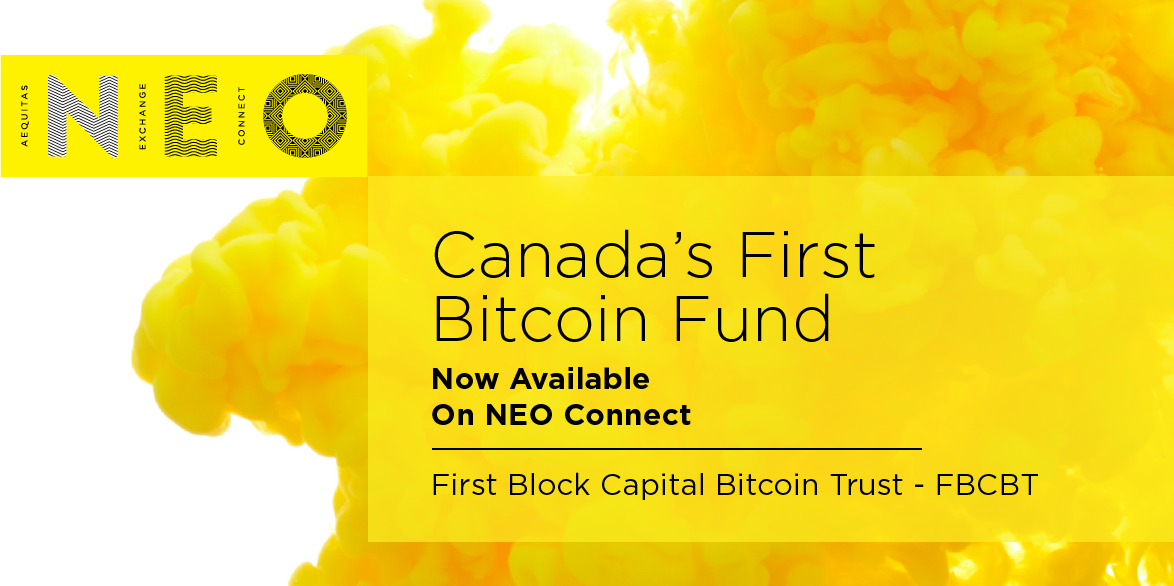 Canada's First Bitcoin Fund Now Available On NEO Connect | NEO